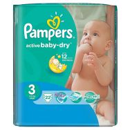 Pampers Active Baby-dry 3 (midi) №22 подгузники