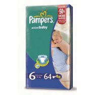 Pampers Active Baby 6 (extra large) №64 подгузники