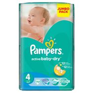 Pampers Active Baby-dry 4+ (maxi plus) №70 подгузники