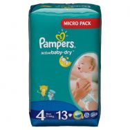 Pampers Active Baby-dry 4 (7-14 кг) №13 подгузники